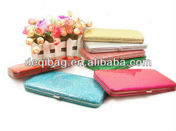 New arrival fashion Candy color boxes long design wallet Glitter women's wallet card case holder Neon multicolor