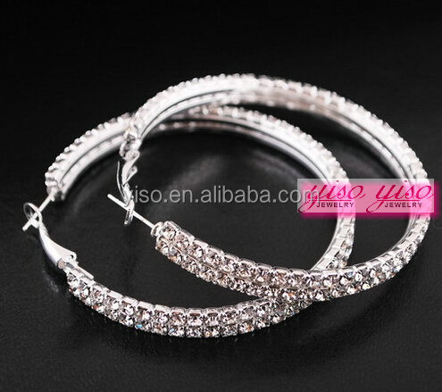 diamond irregular fake diamond princess hoop steel earring hoop piercing