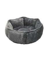 Hot sale amazon modern gray round pet dog cachorro cat bed indoor cotton fabric grosir petshop wholesale pet shop for pet item