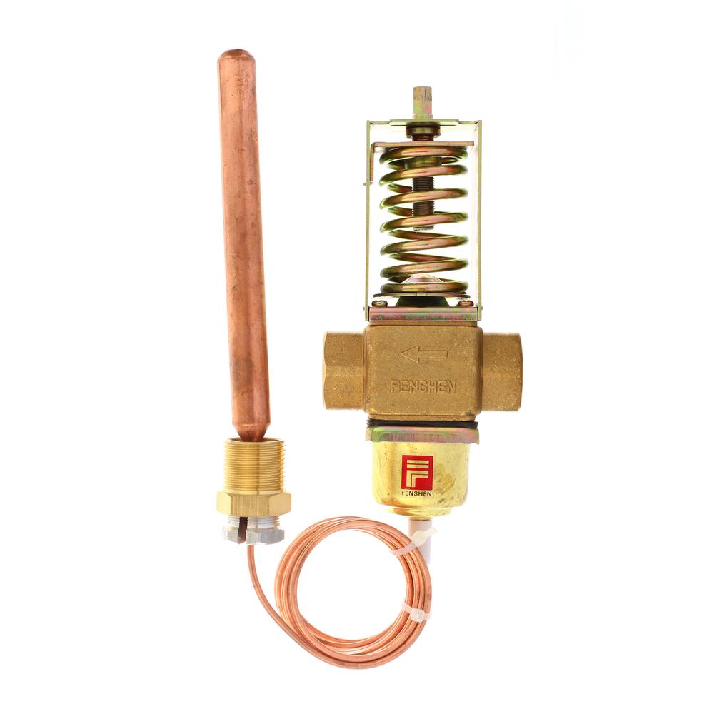 Temperature Controlled Water Flow Control Valve Pneumatic Control ...