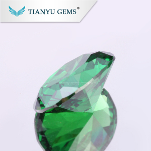 Free Sample Gemstone Wholesale Oval Cut Big Cubic Zirconia Stone, Synthetic Emerald Green Stone