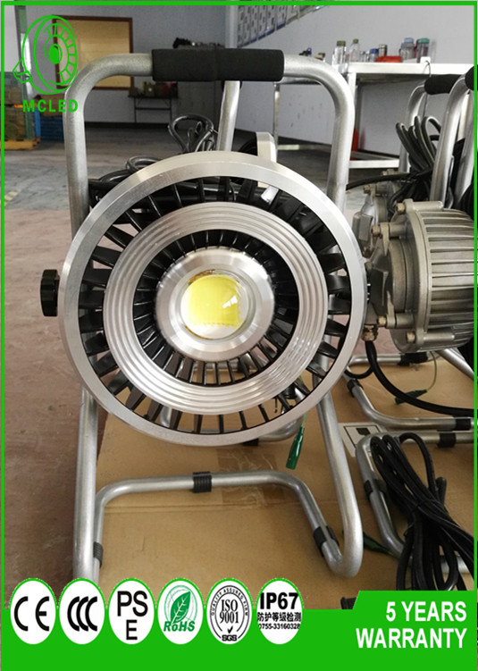 CE, RoHs, PSE, ATEX 80w portable cob explosion proof led moveable working light