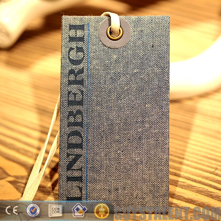 China High Quality Custom Printing Paper Hang Tags, Hang Tag String,Clothing Hang Tags