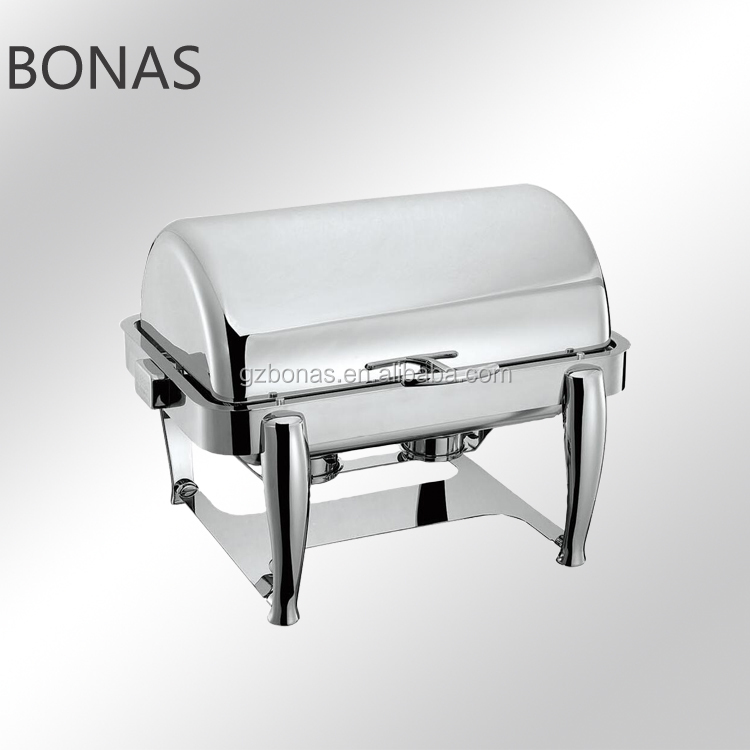 304Chafing dishes with cover, chafing dish roll top, table top voedselverwarmer