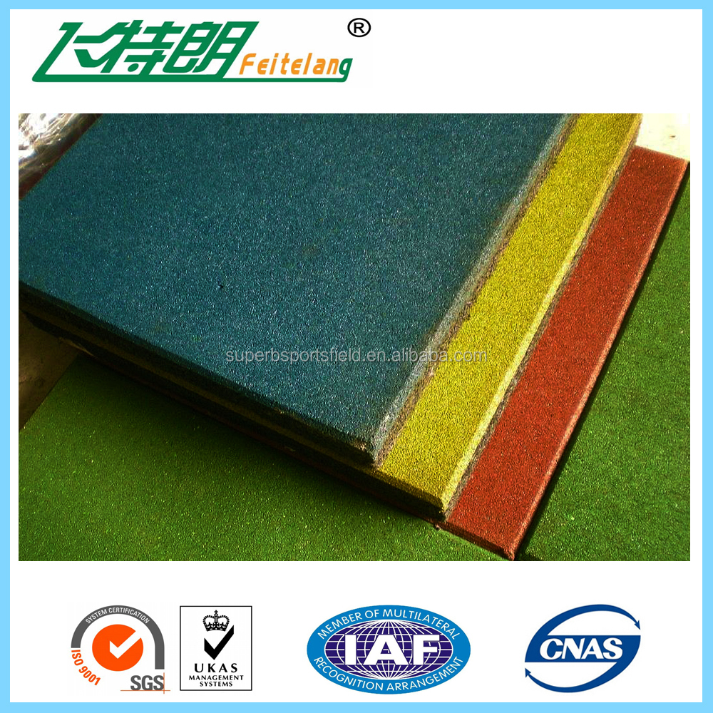 Gym Rubber Mat With Interlocking Edge Made From Recycle Rubber ...