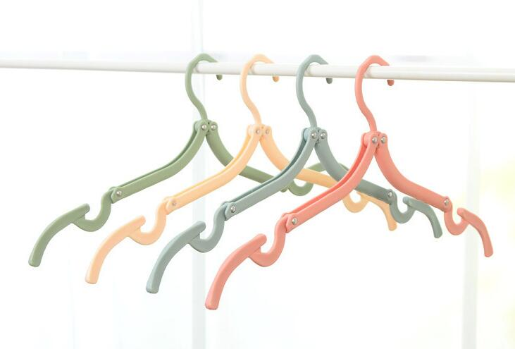 Factory directly supply folding clothes plastic hanger travel lightweight portable foldable drying  hanger