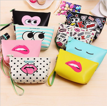 Lady promotion Pu makeup cosmetic bag