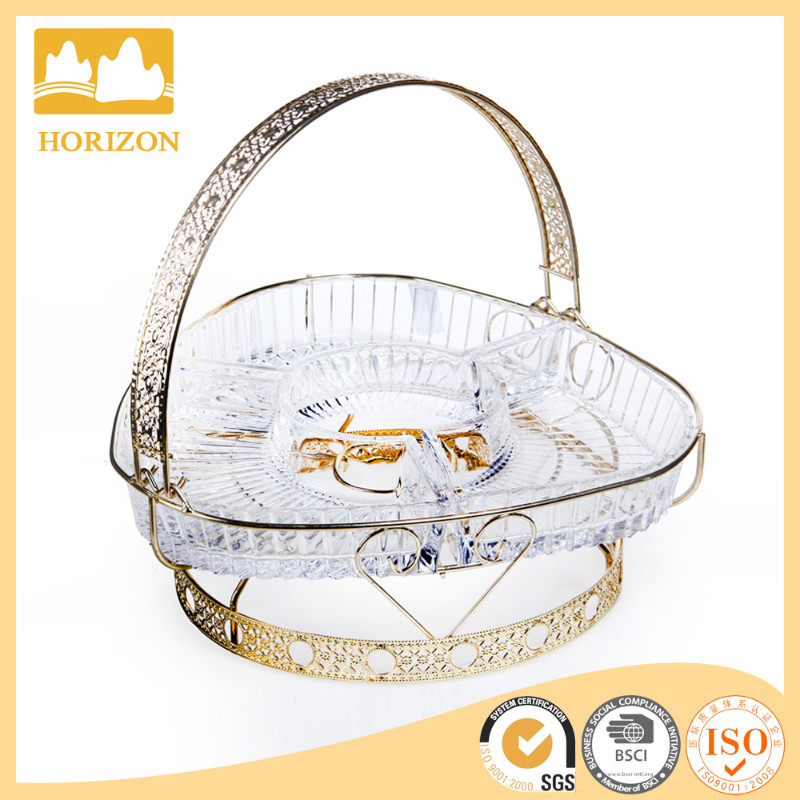 decorate glass gold baskets for indian wedding