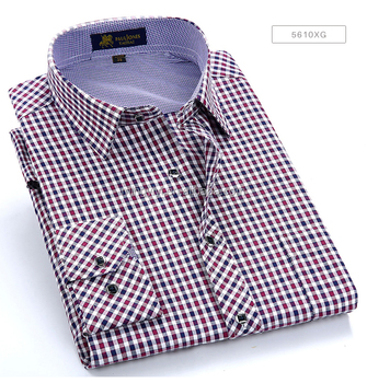 Men's Long Sleeve Thin Plaid Checkered Formal Dress Shirts with Single Chest Pocket Smart Casual Regular Fit Multi Color Shirt