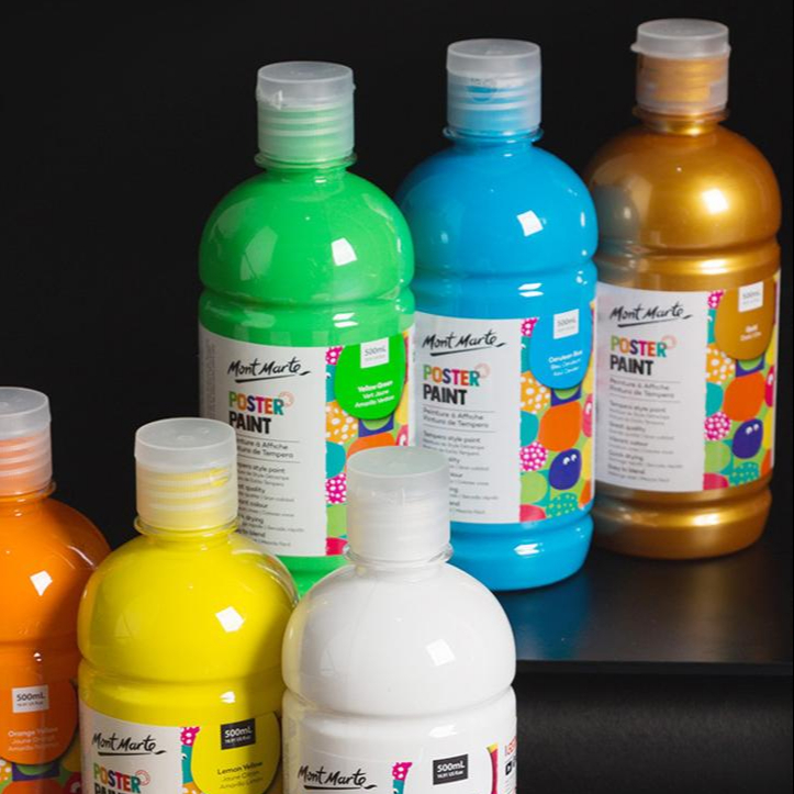 Commercio all'ingrosso Colorful Artista Vernice Acrilica Set 24 In Alta Qualità 500 ml Vernice Acrilica