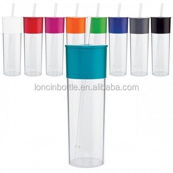 10c9437545b 20oz Edge Single Wall Acrylic Tumbler ,Insulated Plastic 22 oz Drink Cup  with Lid Straw