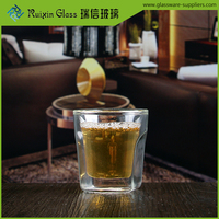 72ml Double-layer glass Double Wall Glass glassware Tea cup sets