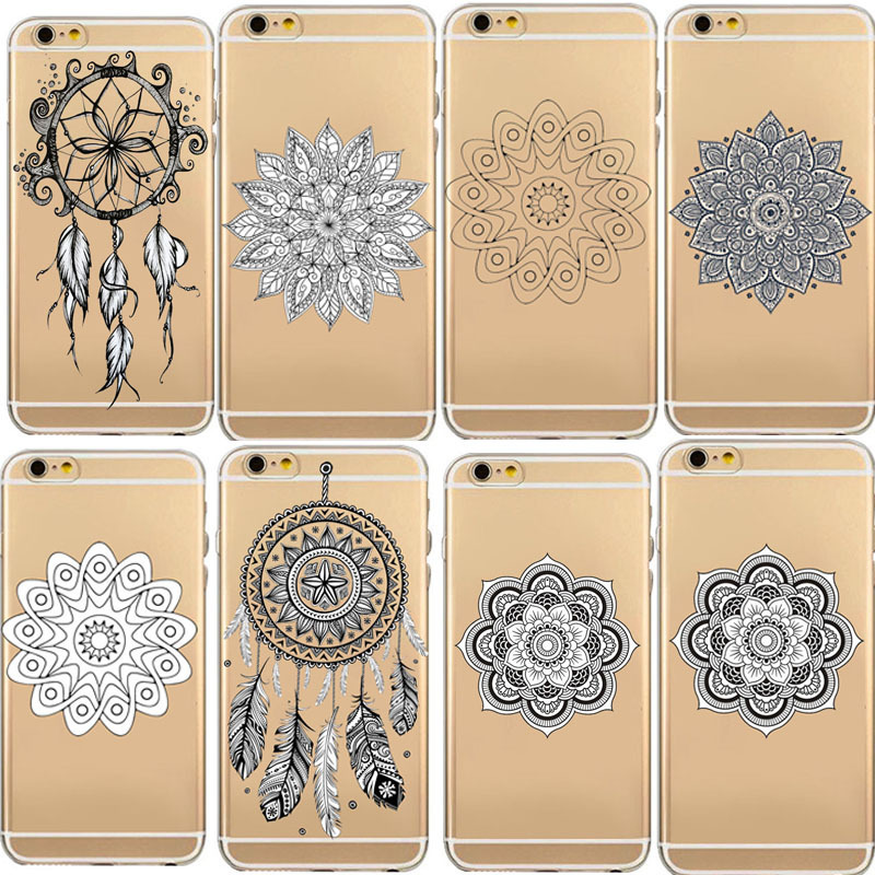 Clear Dream Catcher soft TPU Rubber Shockproof Phone Case For iphone 8 8plus 7 7plus 6 6plus