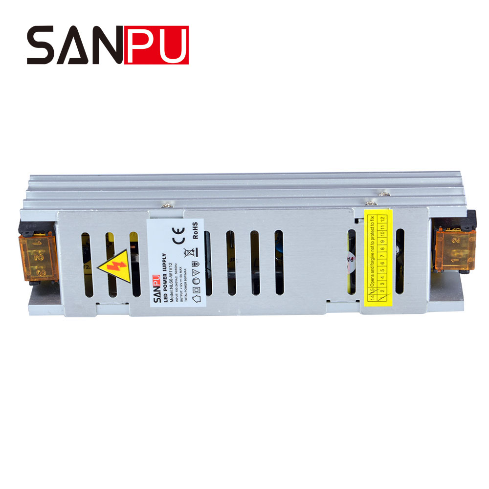 Power Supplies Aluminum 100W 24V SANPU New Arrival AC 110V to DC 24 <strong>V</strong> Single Output Small Without Fans for led display