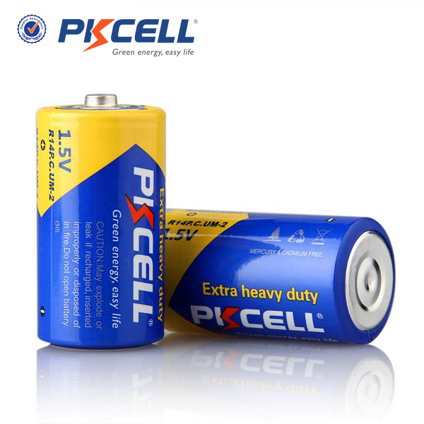 Factory price 1.5V AA size R14P um2 PKCELL extra duty battery for toys