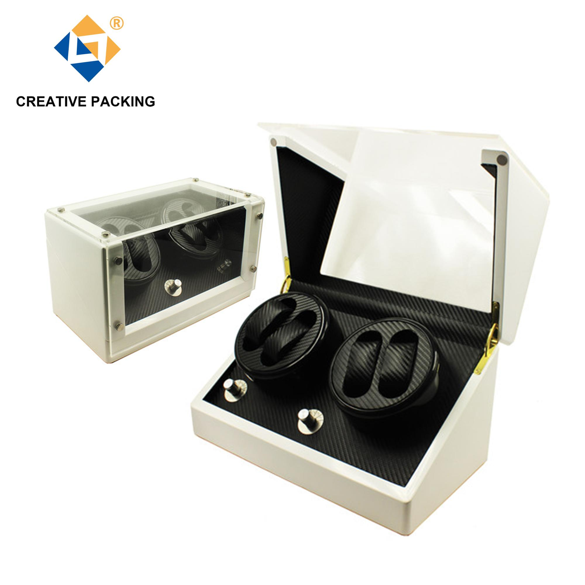Customized White Lacquer Wood Watch Winder