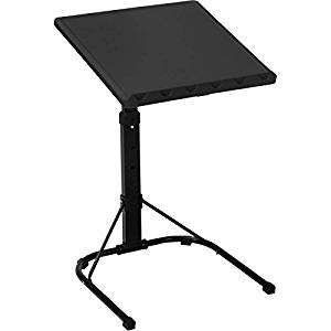"""Contemporary and Classy Multi-Functional Adjustable Laptop and Book Table/Stand for Small Ofice/Home Space, Portable, Tilting and Durable with Adjustable Height, Black (3.74""""L x 23.43""""W x 18.43""""H)"""