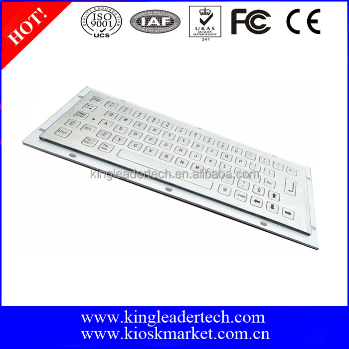 64 flat metal keys computer keyboard for industrial application