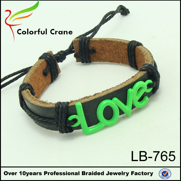 Tope Sales Meaning Love Leather Bracelet Wholesale