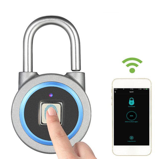Di impronte digitali Lucchetto Impermeabile Intelligente Safty Serrature Bluetooth Lucchetti BT Pad Serrature