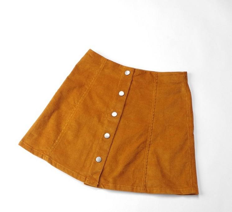 10aa08eb2 Buy 2015 Hot Corduroy Empire Mini Skirt Autumn Winter Vintage Umbrella Skirt  For Women Button Skirt in Cheap Price on m.alibaba.com