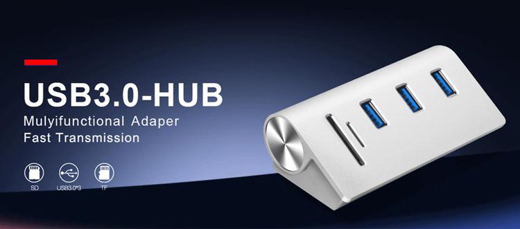 OEM アルミオールインワンカードリーダー USB ハブ 3.0 ドッキング表面プロ 5