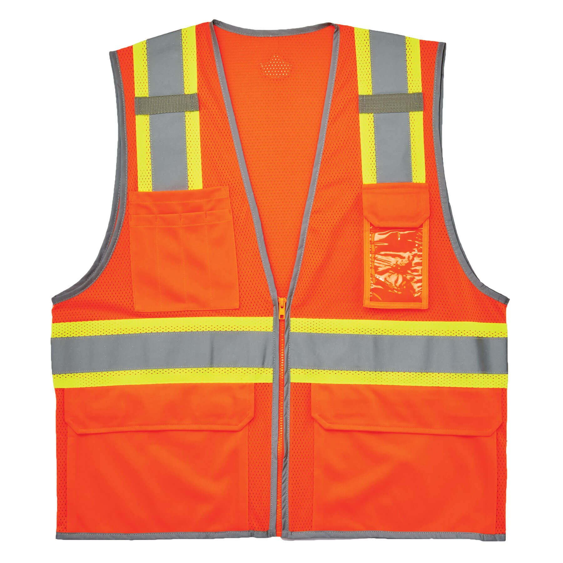f8e374dee4ff Get Quotations · Ergodyne GloWear 8246Z ANSI High Visibility Two Tone Mesh  Safety Vest with Reflective Binding
