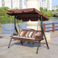 outdoor furniture covered two seat patio swing with canopy
