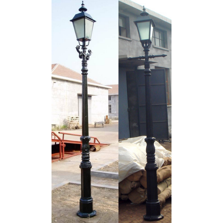 Antique double arm street lighting pole price
