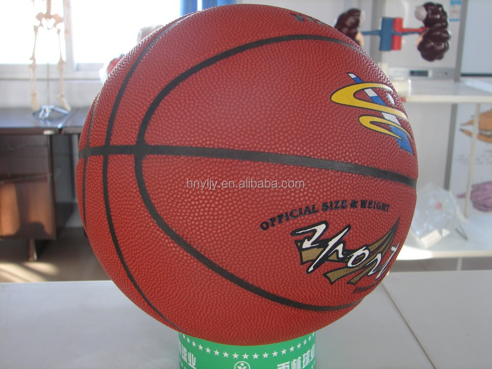colourful panels basketballs with pump