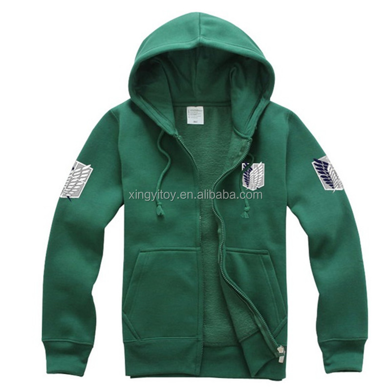 Clothing, Shoes & Accessories Other Anime Collectibles Romantic Attack On Titan Shingeki No Kyojin Hoodie Black Green Jacket Costume Uk Seller