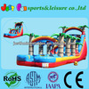 Tropical inflatable Slip and Slide,water slide with pool,wet and dry slide inflatables