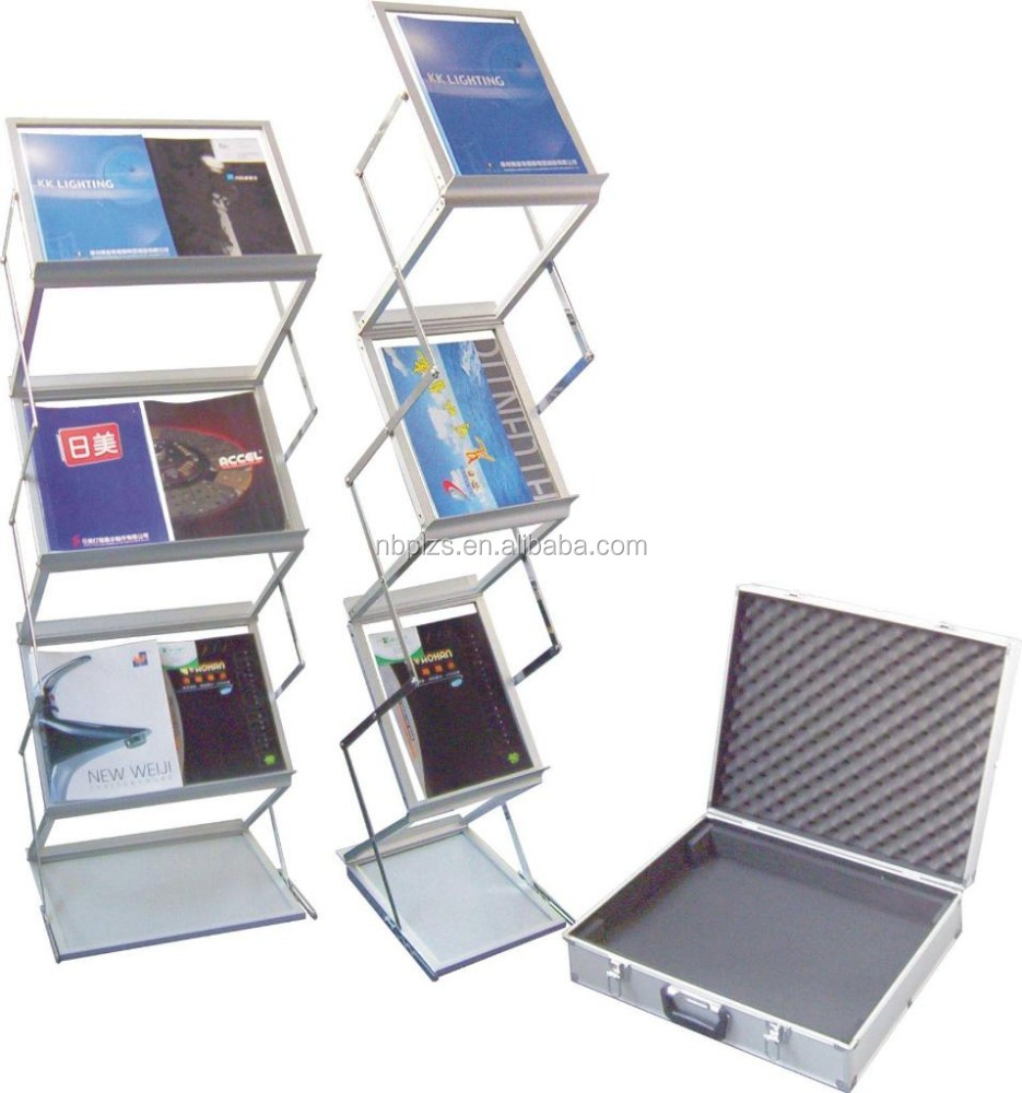 double side magazine holder used brochure holders stand floor stand book holder