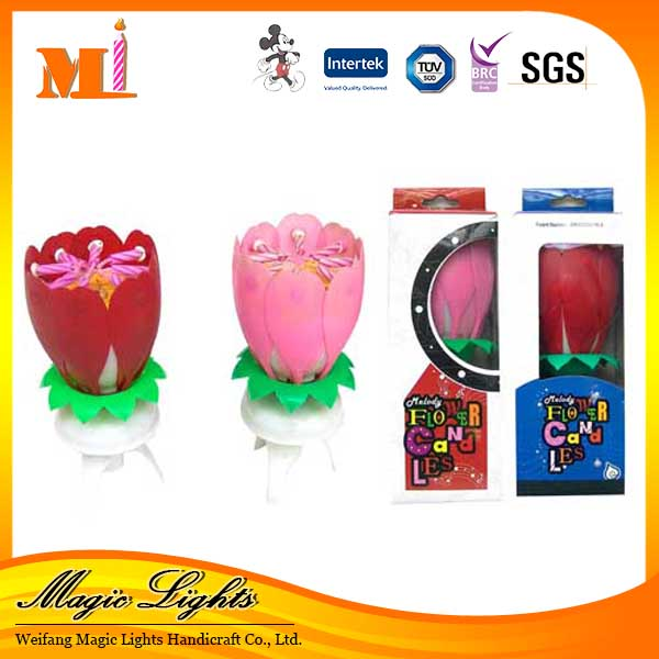 Sparkler Flower Design Birthday Candle Wholesales Cake Candles