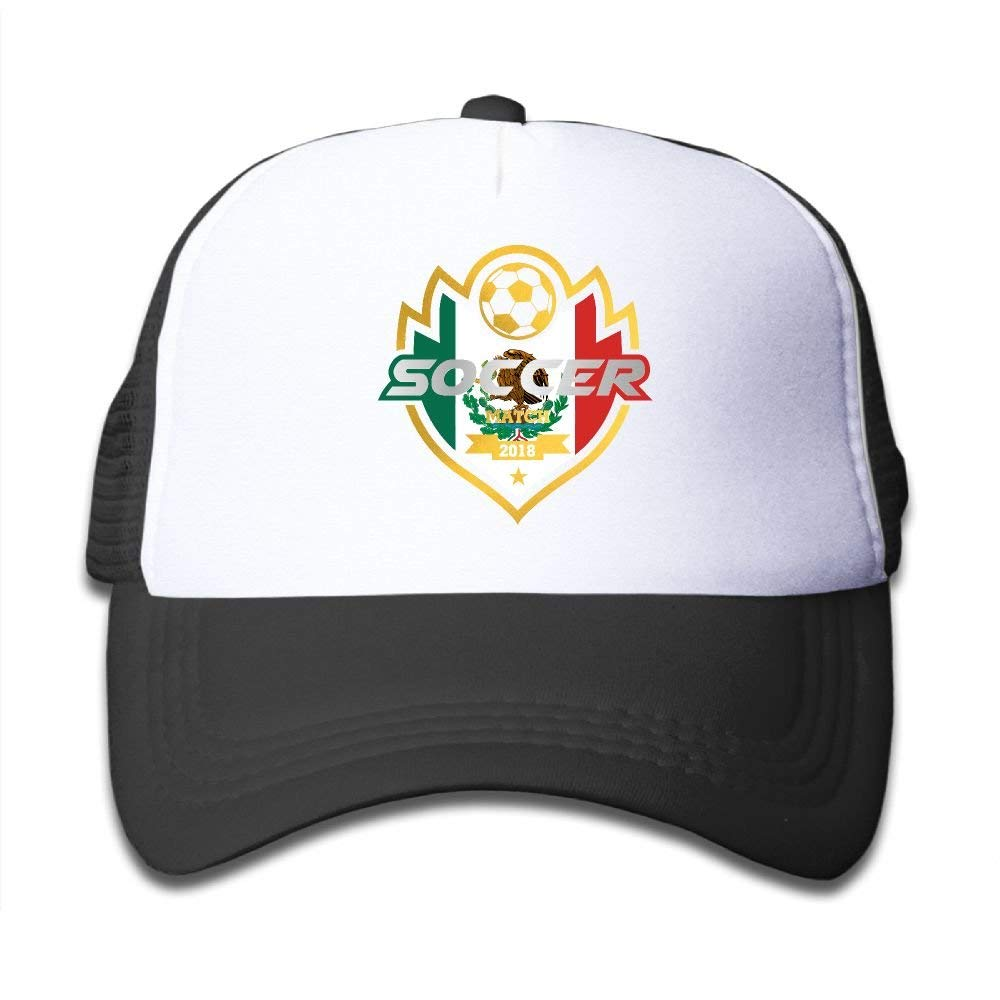 0ed8e33ed261ed Get Quotations · Soccer Match 2018 Mexico Child Baby Kid Mesh Caps  Adjustable Trucker Hats Summer Snapback