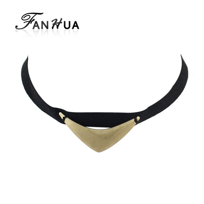 Punk Rock Black Suede Tattoo Choker Necklaces for Women