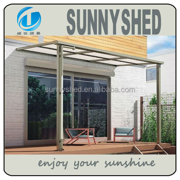 UV protection polycarbonate patio cover rain awning