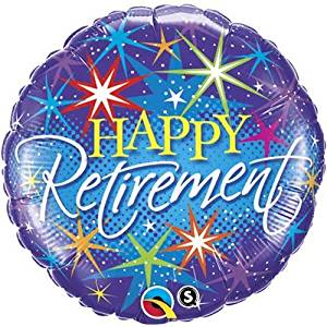 """Single Source Party Supplies - 18"""" Retirement Colorful Mylar Foil Balloon"""