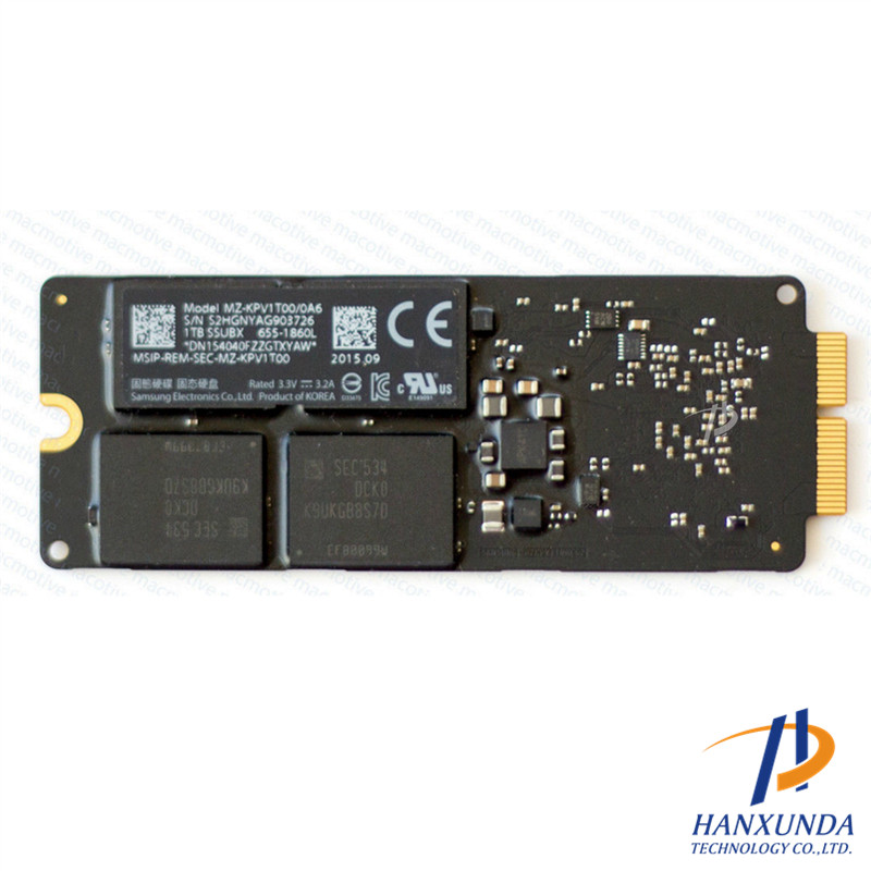 655-1810D Solid State Drive 2015 Memory SSD 1TB for MBA Air