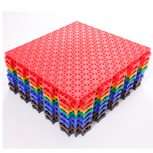 High quality and colorful free design indoor and outdoor pp plastic used volleyball sport court