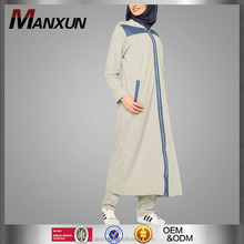 New Coat Style Dress Muslim Long Topcoat Gray Islamic In Dubai Clothing 2016