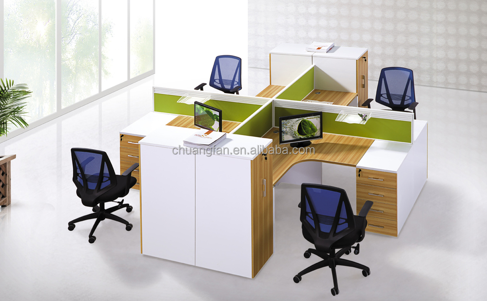 modular office cubicle for 4 person workstation furniture