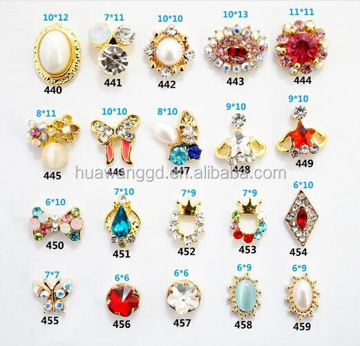 New style 3D accessories glitter metal stickers nail arts design Alloy Jewelry Metal Nail Art Floating Charms wholesales