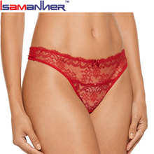 Lace lingerie women g string thong red sexy t-back panties sexy girl