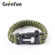 Paracord Survival Bracelet With Flint ,Fire Starter ,Knife , Custom Parachute Cord Quick Release Slim Buckle Design Hiking Gear