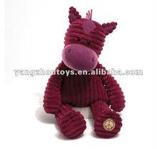 new material animal plush & stuffed soft children toys horse corduroy toy