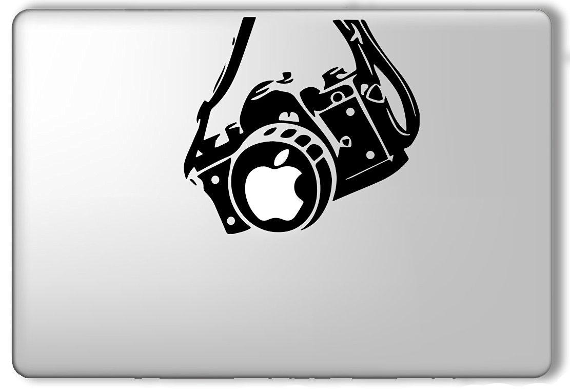 Camera apple lens nikon cannon apple macbook laptop vinyl sticker decal
