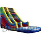 Red blue color customize size en14960 pvc kids pool plastic water slide