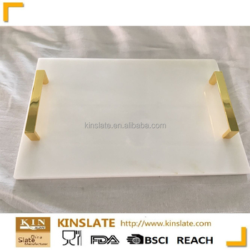 new white marble rectangular cheese plate serving tray with handles  sc 1 st  Alibaba : marble cheese plate - pezcame.com