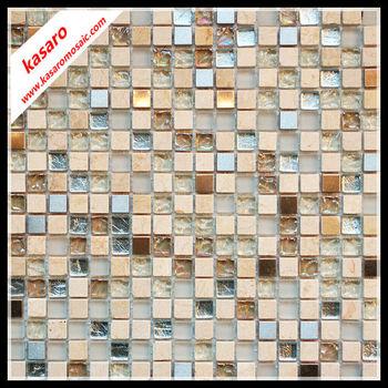 Mosaiken,Glas Mix Stein Und Metall Mosaik-fliesen,Design Mosaik ...